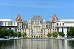 New York State Capitol, Albany, NY, USA. New York State Capitol, Albany, New York, USA. This building was built with Romanesque Revival and Neo-Renaissance style Stock Image