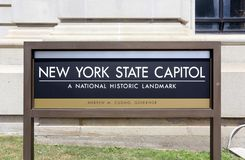 New York State Capitol Building in Albany stock photos