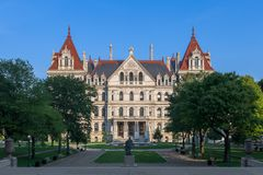 New York State Capitol building stock photos