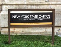 New York State Capitol sign Royalty Free Stock Image