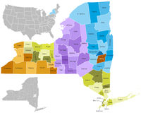 New York state counties royalty free illustration