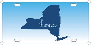 New York state license plate vector royalty free illustration