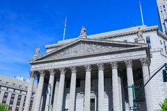 New York State Supreme Court Building in Manhattan, NYC Stock Image