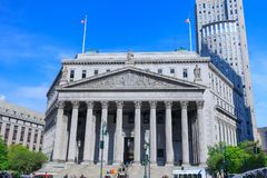 New York State Supreme Court Building in Manhattan, NYC Royalty Free Stock Photography