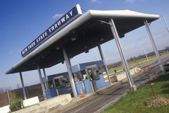 The New York State thruway toll road off of Route 90 Stock Photo