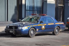 New York State Trooper Police Car in Buffalo, NY, USA. New York State Trooper Ford Crown Victoria Police Car in downtown Buffalo, New York, USA Royalty Free Stock Photo
