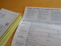 New York State Voter Registration Form Royalty Free Stock Photo