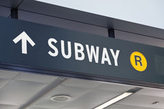 New York Staten Island terminal the Subway sign Stock Photo