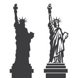 New York Statue of Liberty Vector silhouette Royalty Free Stock Photo
