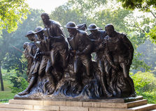 New York Statue of soldiers of I World War, Central Park. Royalty Free Stock Images