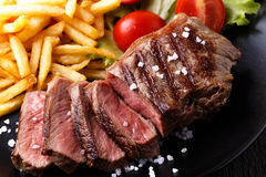 New York steak with french fries Stock Photography