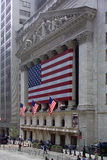 New York Stock Exchange. The Stock Exchange Building in the city of New York in the USA royalty free stock image