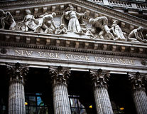 New York Stock Exchange Arkivbild