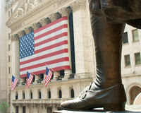 New york stock exchange. With presidential foot Stock Image
