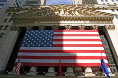 New York Stock Exchange. The front of the New York Stock Exchange royalty free stock image