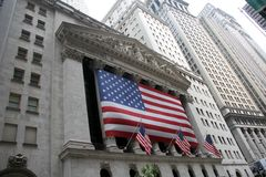 New York Stock Exchange. Outside of the New York Stock Exchange Royalty Free Stock Image