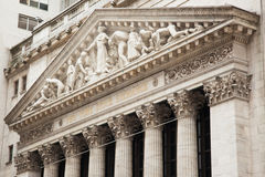 New York stock exchange building in Manhattan - USA - United sta. Tes of america royalty free stock image