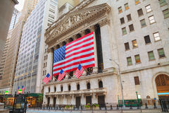 New York Stock Exchange building in New York Stock Image