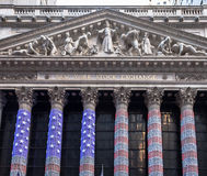 New York Stock Exchange in Christmas Royalty Free Stock Image