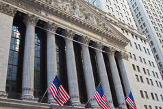 New York Stock Exchange. New York City, New York, USA stock photos