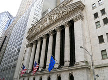 New York Stock Exchange. New York City, USA - May 19, 2014: Facade of the New York Stock Exchange on Wall Street Royalty Free Stock Images