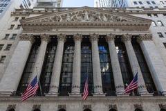 New York Stock Exchange-de Bouw, Manhattan stock foto's