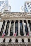 New York Stock Exchange-de Bouw, Manhattan Royalty-vrije Stock Afbeelding