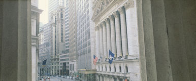 New York Stock Exchange exterior Stock Images
