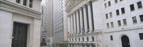 New York Stock Exchange in Financial District of Lower Manhattan, New York City, NY Stock Image