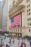 New York Stock Exchange-Gebäude in New York Lizenzfreie Stockfotografie