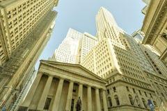 New York Stock Exchange, grattacieli fotografia stock libera da diritti