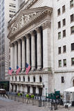 New York Stock Exchange i Manhattan Arkivbild