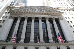 New York Stock Exchange i Manhattan Royaltyfri Bild