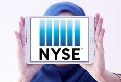 New York Stock Exchange, logo de NYSE Photos libres de droits