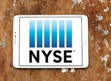 New York Stock Exchange, logo de NYSE Photo libre de droits