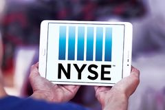 New York Stock Exchange, logo de NYSE Photographie stock