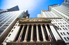 New York Stock Exchange in Manhattan Finance Stock Photo