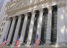 New York Stock Exchange, New York Royalty-vrije Stock Afbeeldingen