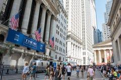 New York Stock Exchange. New York, NY: August 27, 2016: NYSE on Wall Street. The New York Stock Exchange NYSE is the largest stock exchange in the world by Royalty Free Stock Image