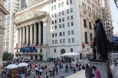 New York Stock Exchange. New York, NY: August 27, 2016: NYSE on Wall Street. The New York Stock Exchange NYSE is the largest stock exchange in the world by Royalty Free Stock Photo