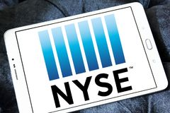 New York Stock Exchange, NYSE-embleem Stock Foto