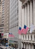 New York Stock Exchange op Wall Street Stock Fotografie