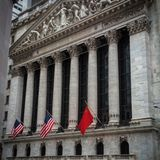 New York stock exchange. Outside view of the New York stock exchange Stock Photography