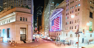 New York Stock Exchange panorama Stock Images