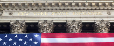 New York Stock Exchange panoramic Stock Photo