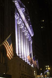 New York Stock Exchange par nuit Photo stock
