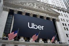 New York Stock Exchange Uber IPO stock photo
