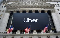 New York Stock Exchange Uber IPO royalty free stock photos