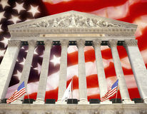 New York - Stock Exchange - USA - Flag. United States Financial Markets - The New York Stock Exchange in New York City in the United States of America Royalty Free Stock Photography