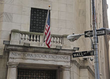 New York Stock Exchange, Wall St. NYC Stock Image